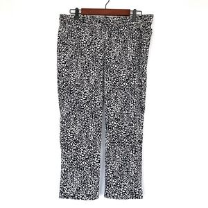 Banana Republic Black White Leopard Ankle Pants